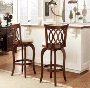 classic wooden bar stools