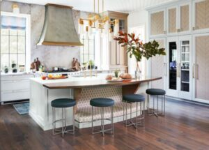 cabinet colors with bar stools colors