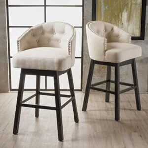 white and wooden neutral color bar stools