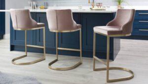 pink bar stools for modern home design