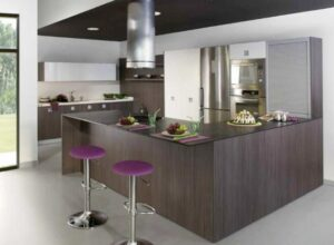 purple stools for kitchen island